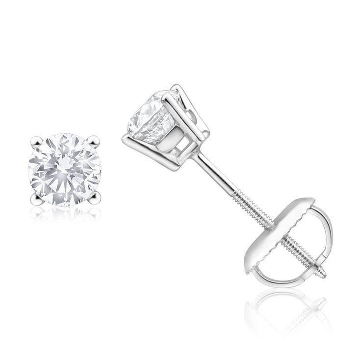3/4 carat Diamond Stud Earrings in 18ct White Gold (TW=75pt) $1999 - Sheils (si cut  ij clarity)