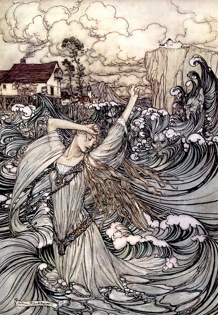 Undine by Arthur Rackham, 1909 (I'll never cease being in awe of him!)