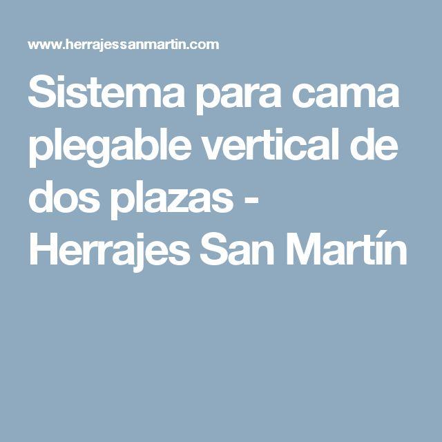 Sistema para cama plegable vertical de dos plazas - Herrajes San Martín