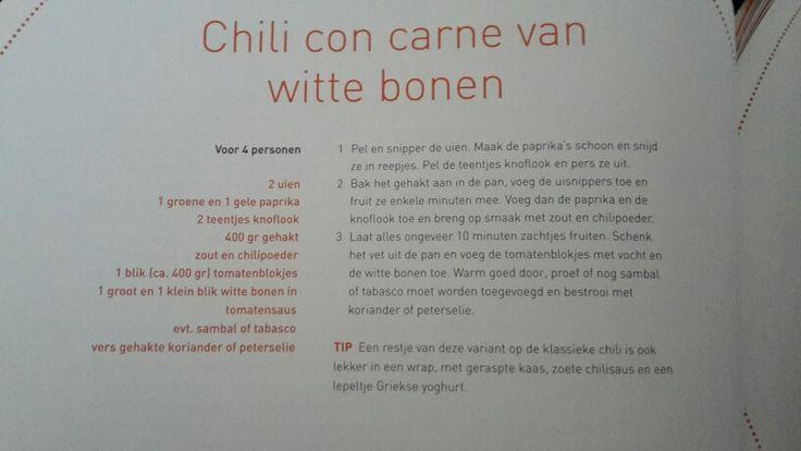 Chili con carne van witte bonen