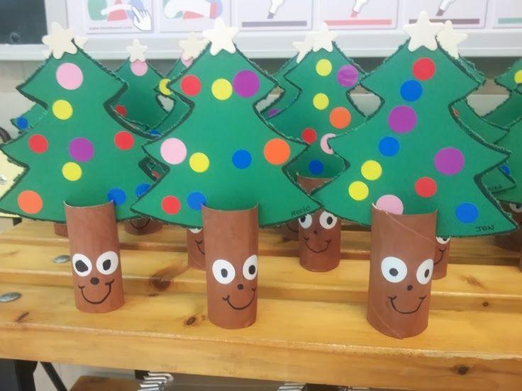 recursos de educacion infantil arbolitos de navidad para niosmanualidades