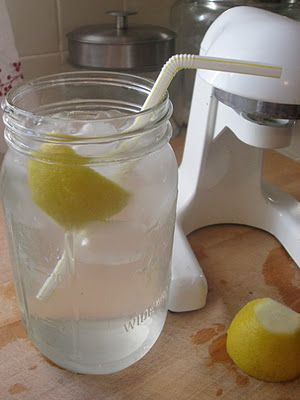 day starts off with lemon water...