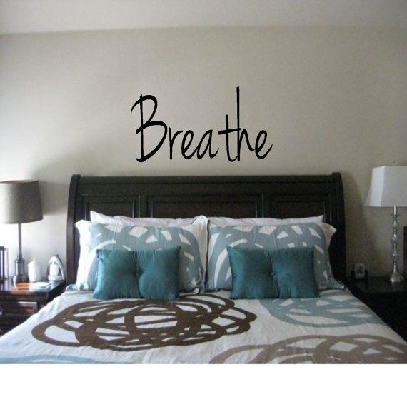 Breathe Wall Decal by DecalsAffordable on Etsy