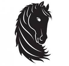 Resultado de imagen de siluetas de caballos unicornios