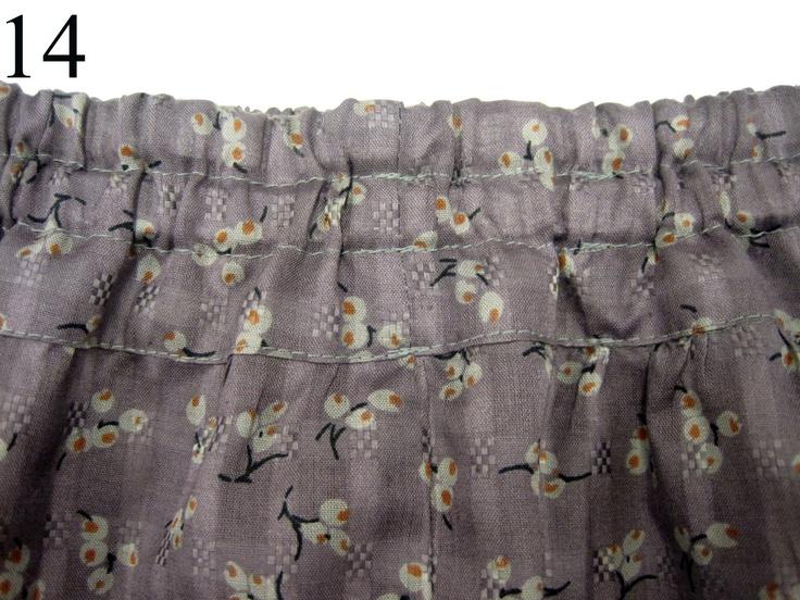 marapytta syskole: DIY - Nem pige nederdel. Pinning for the elastic top tutorial