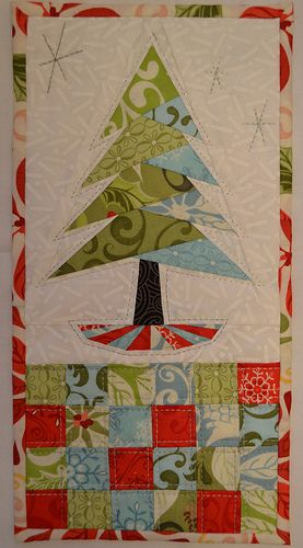 Tree quilt If you sewed pockets over the bottom squares, this would be a fantastic re-usable advent calendar.