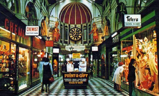 Vintage Shops Australia /  The Royal Arcade - Melbourne 1970's