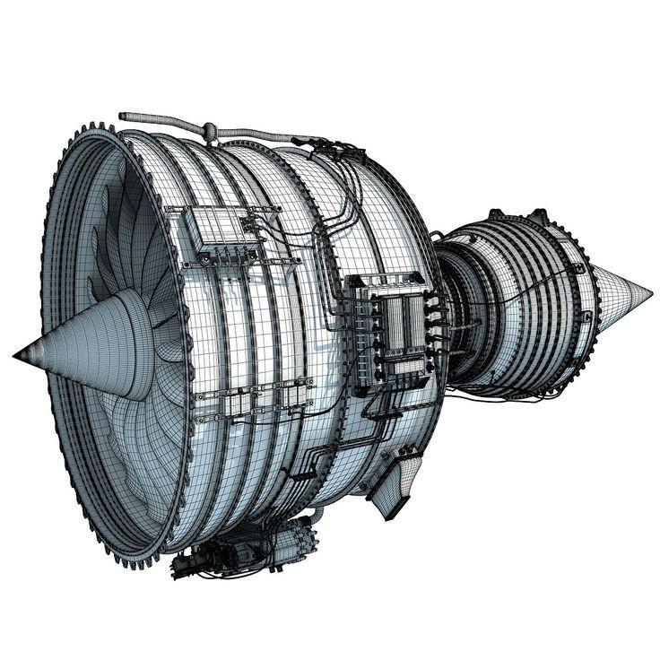 Rolls-Royce Trent 1000 Turbofan Aircraft Engine 3D Model.#jorgenca
