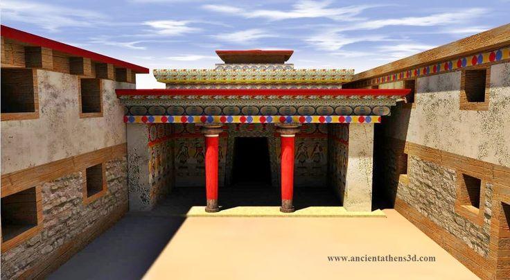 Μυκηναϊκό μέγαρο - ''Δόμος'' - Ψηφιακή απεικόνιση Mycenean ''megaron'' - ''Domus'' - Digital Reconstruction  Image by www.ancientathens3d.com