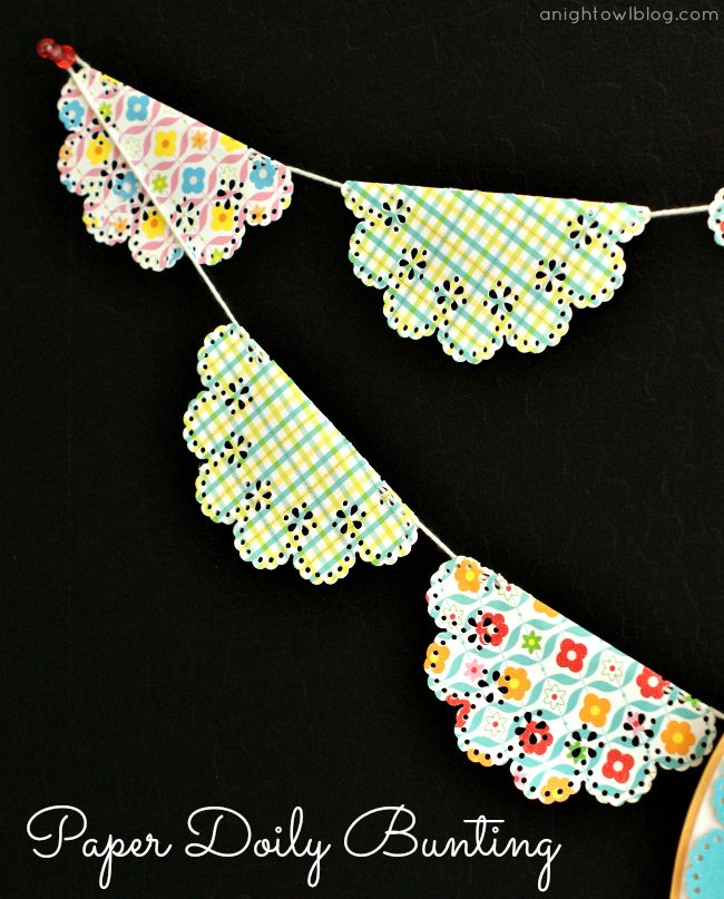 diy paper doilie bunting