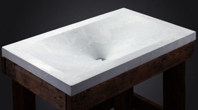 Weiß-Beton Waschbecken-Design italienisch-White sea-lagoon