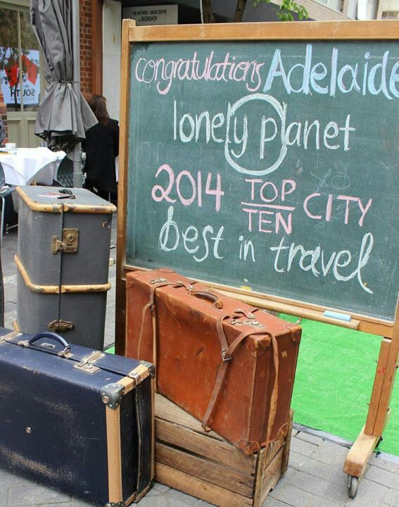 Adelaide, Lonely Planet's 2014 Top Ten City for Best in Travel