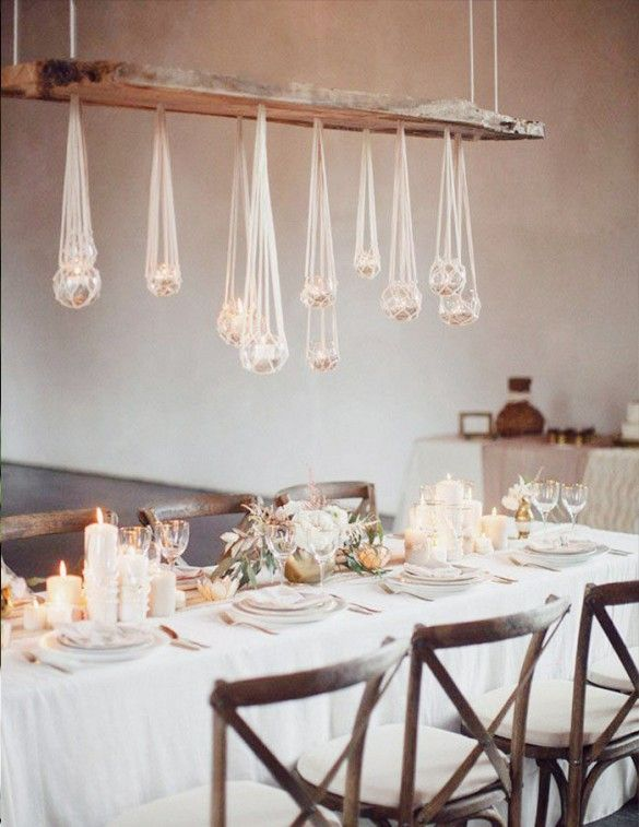 Unique wedding table set up and décor