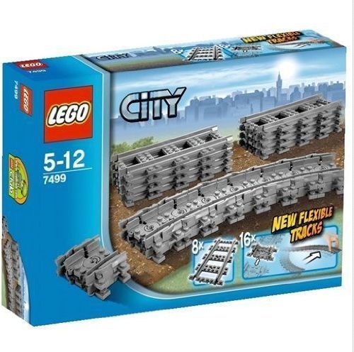 Lego 7499 City Train Flexible Tracks Set -  brand New, Sealed