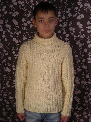 Вязаные зимние свитера для мальчика