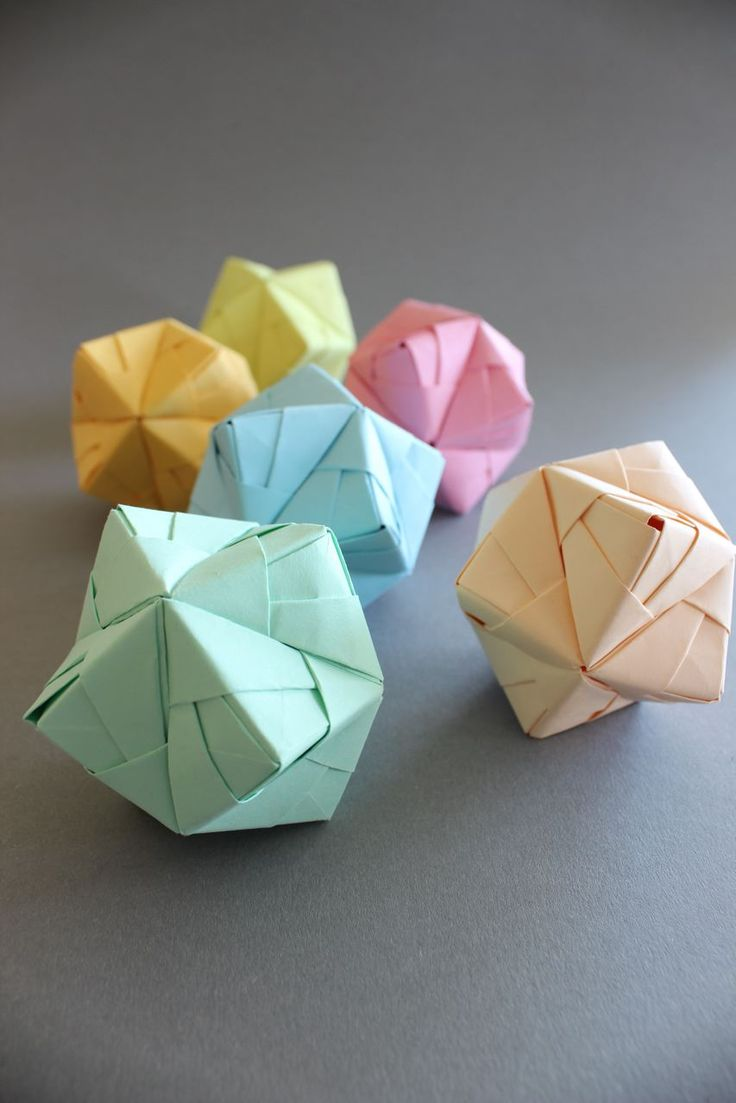 60 best origami 3d paper images on pinterest origami paper diy diy origami ball sonobe style in pastell dhlflorist Image collections