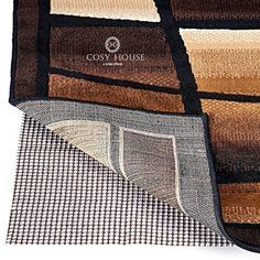 High Quality Non-Slip Area Rug Pads by Cosy House - Fully Washable Best Pad for Firm Hold on Oriental Traditional or Contemporary Rugs & Mats on Hard Surface Floors Like Wood Tile or Cement (2 x 3)