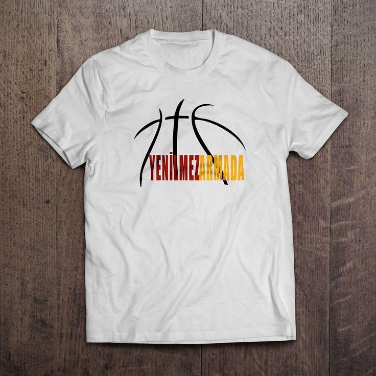 Beyaz kumaş üzerien dijiral baskı Yenilmez Armada T-Shirt 29,99TL