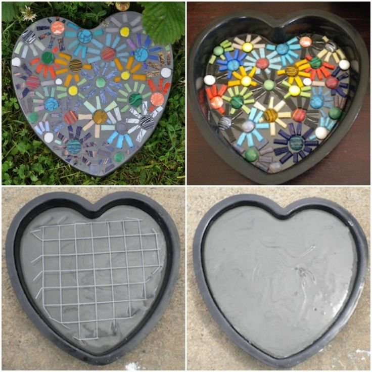 Mosaic Stepping Stone Crafty Ideas Pinterest Krukor