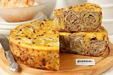 Мясной пирог Ленивец в мультиварке - рецепт для мультиварки