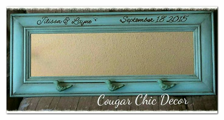 Here's a custom mirror that I made for a wedding gift complete with cute bird knobs...hopefully they will have this for many years to come! #custommade #furniturerefinishing #furnitureredo #fatpaintretailer #fatrobynsegg #cougarchiccustomglaze #chocolateglaze #getcreative #yyc #weddinggift #awesomeknobs #mirror #cochraneab #madewithlove www.albertadames.ca