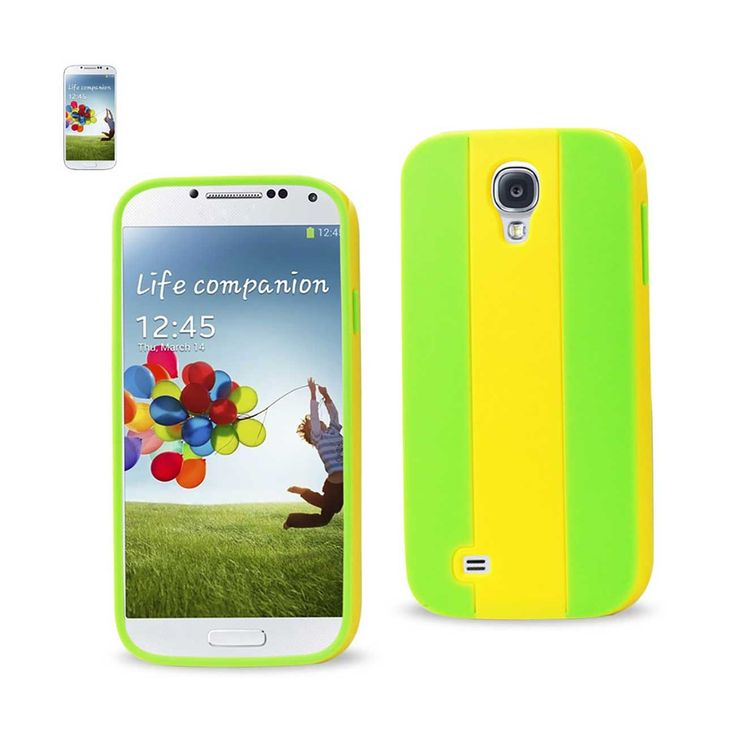 Reiko Samsung Galaxy S4 Striped Case Yellow Green | MaxStrata
