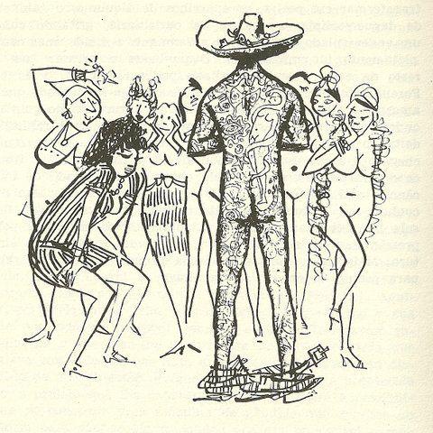 Cem anos de solidão (GGMarquez) Jose Arcádio volta todo tatuado - Por Carybé: