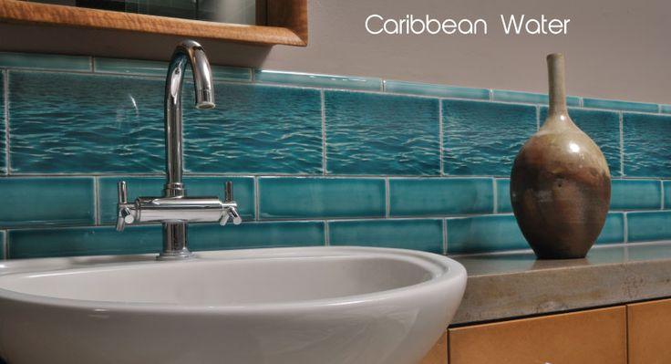 Caribbean water backsplash for Caribbean bathroom design ideas