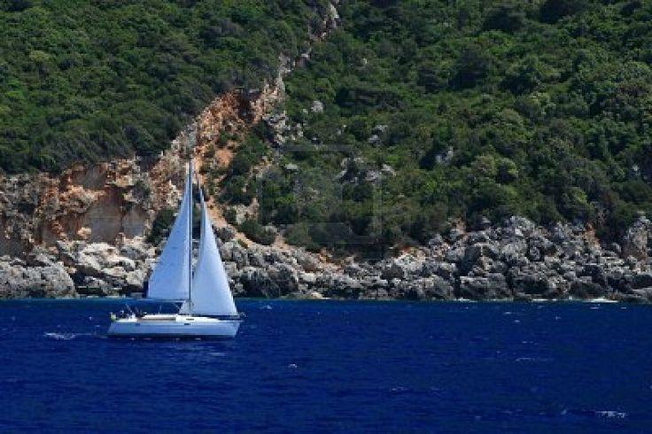 Sailing in Mani, Greece