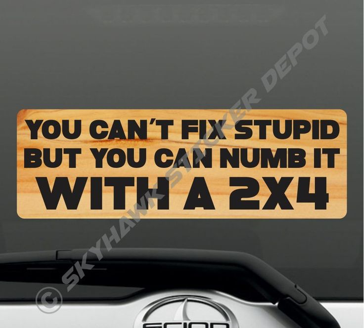 9 you can t fix stupid funny bumper sticker vinyl decal car truck jdm honda awd