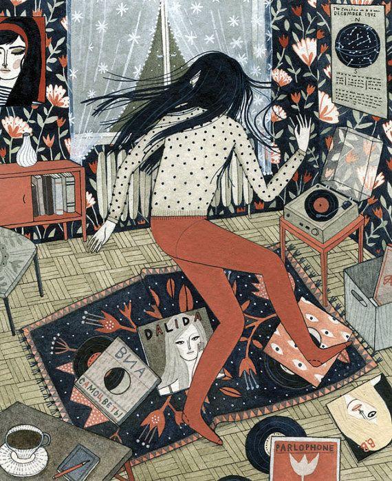 dance party for one (print) by Yelena Bryksenkova