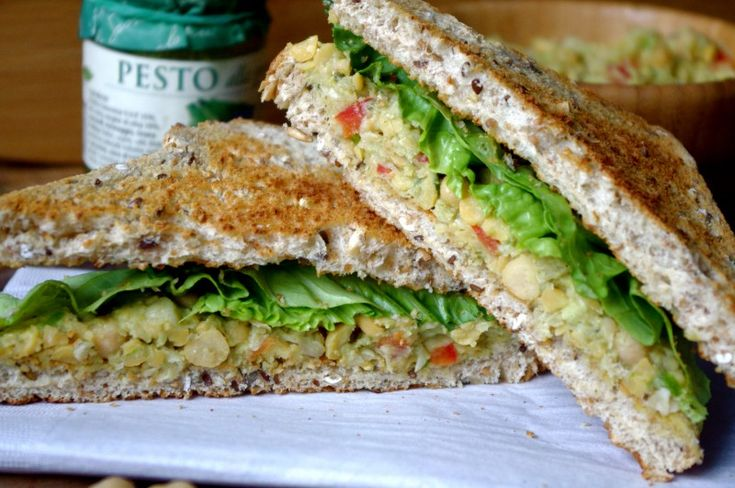 Meatless Monday: Mashed Chickpea & Pesto Sandwich | V For Veggies ...