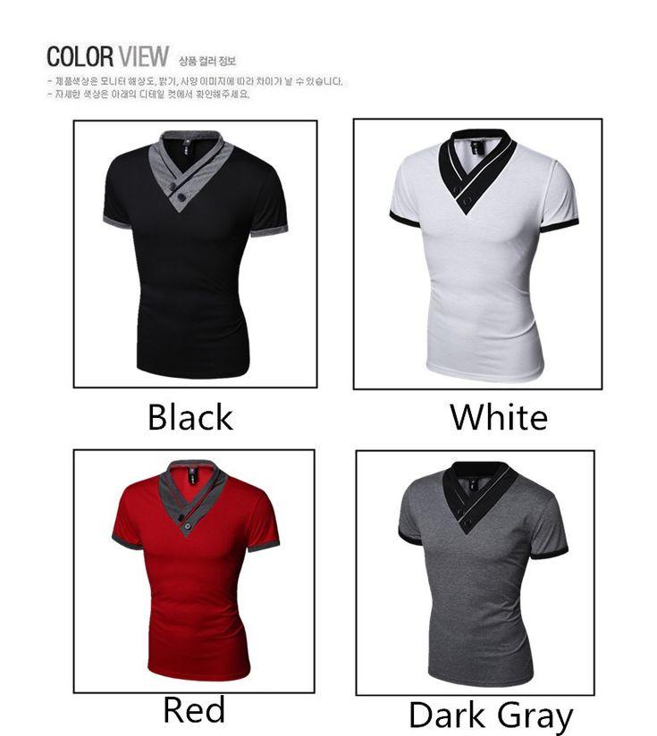 2016 Korean Casual Men T-shirt 2017 - GET IT NOW CLICK HERE  http://stylishaccessory.com/2016-korean-casual-men-t-shirt-2017/