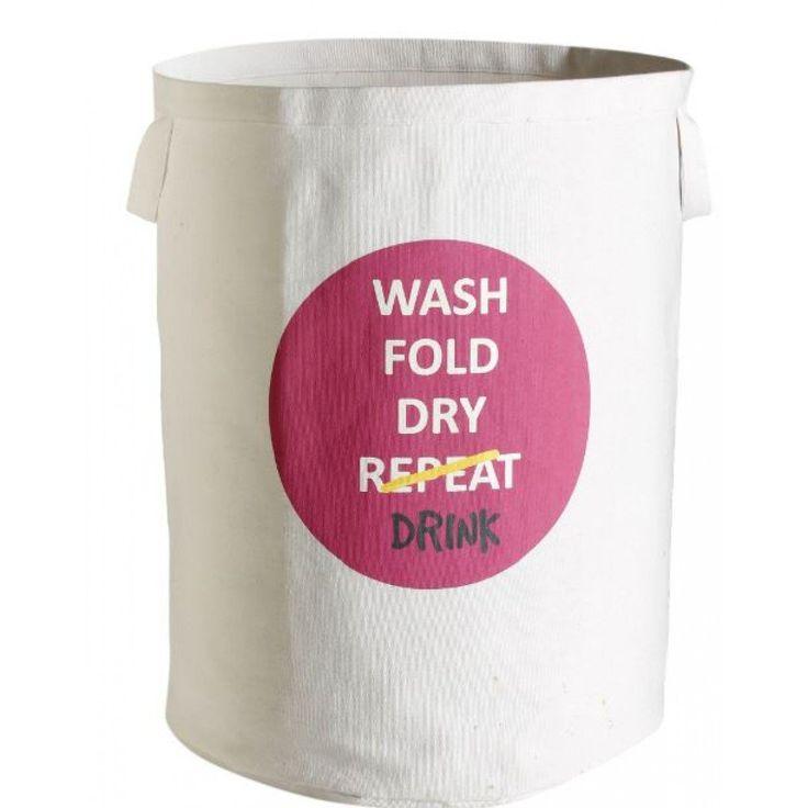 Retrokitchen Wash Fold Dry Drink Laundry Bag Pink For NZ$27.32 | Kitchenware…