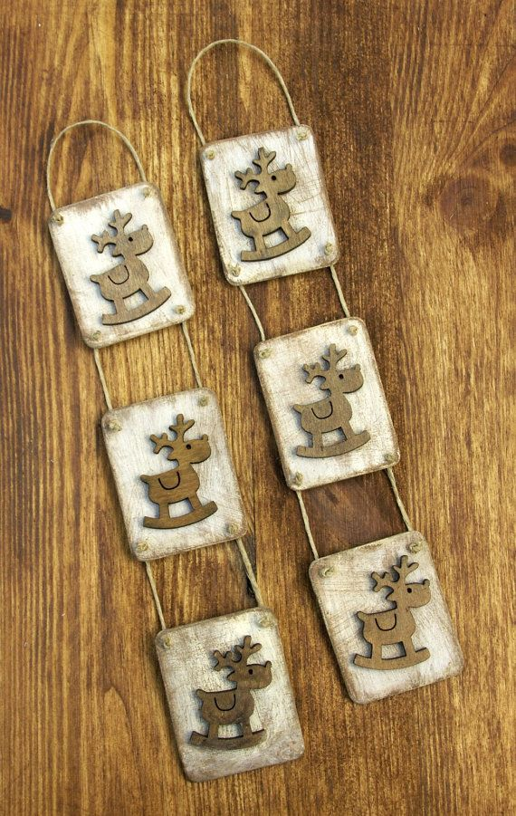 Shabby Chic Reindeer Tag by ForMomentsinTime on Etsy