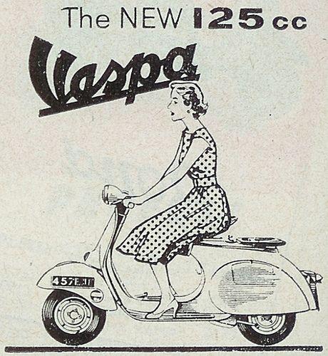 Vintage Italian Posters ~ #illustrator #Italian #posters ~ vespa italian scooter