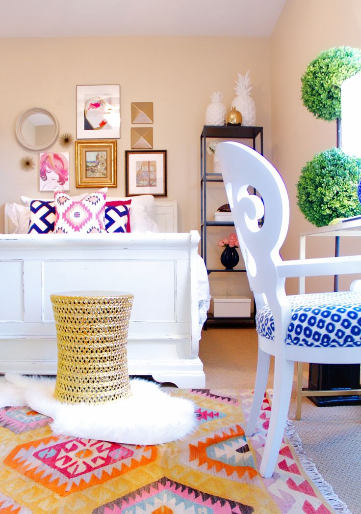Love the stool as it looks like a giant roll of thread. This would be cute in my dream craft room