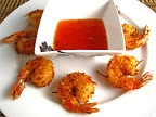 Coconut Shrimp with Apricot Sweet Chili Dipping Sauce
