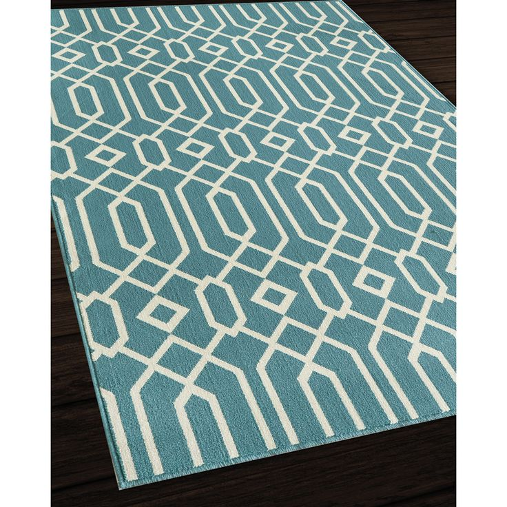Indoor/Outdoor Blue Links Area Rug (6u00277 X 9u00276)