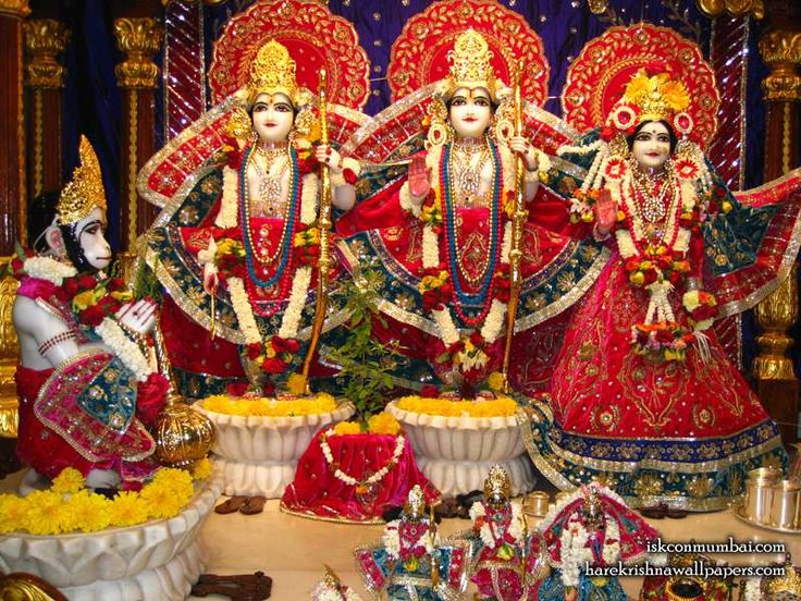 http://harekrishnawallpapers.com/sri-sri-sita-rama-laxman-hanuman-iskcon-juhu-wallpaper-003/