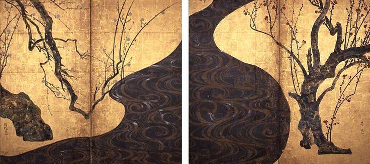 紅白梅図屏風,尾形光琳,18th Century,Japan