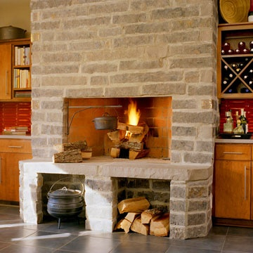 Nice Fireplace Design For Patio