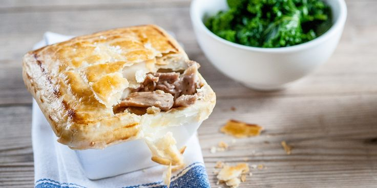 A delicious chicken pie recipe by Dominic Chapman, with ham hock, mushrooms and crisp golden pastry.