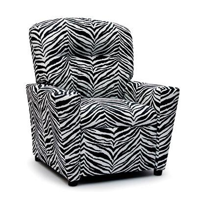 zebra print kids recliner from furniture