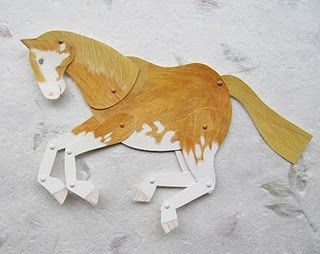 jointed paper horse