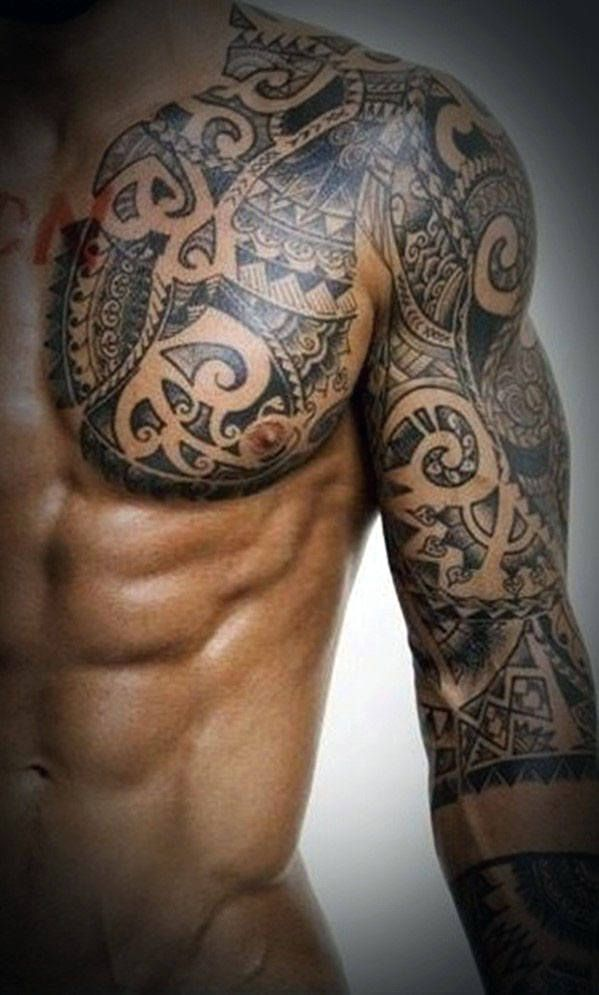 Tribal Chest Tattoos For Men