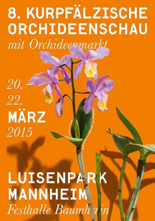 Orchideenschau 15' on Behance