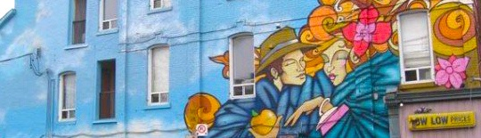 Toronto mural painters providing mural painting services for Commercial mural painting
