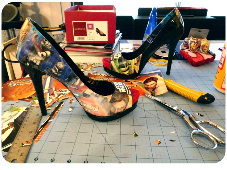 diy decoupage shoes