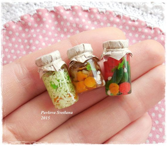 Набор миниатюрных баночек номер 10 от Pavlysha на Etsy